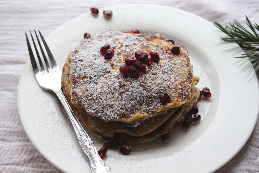 fluffy gluten free oat pancakes