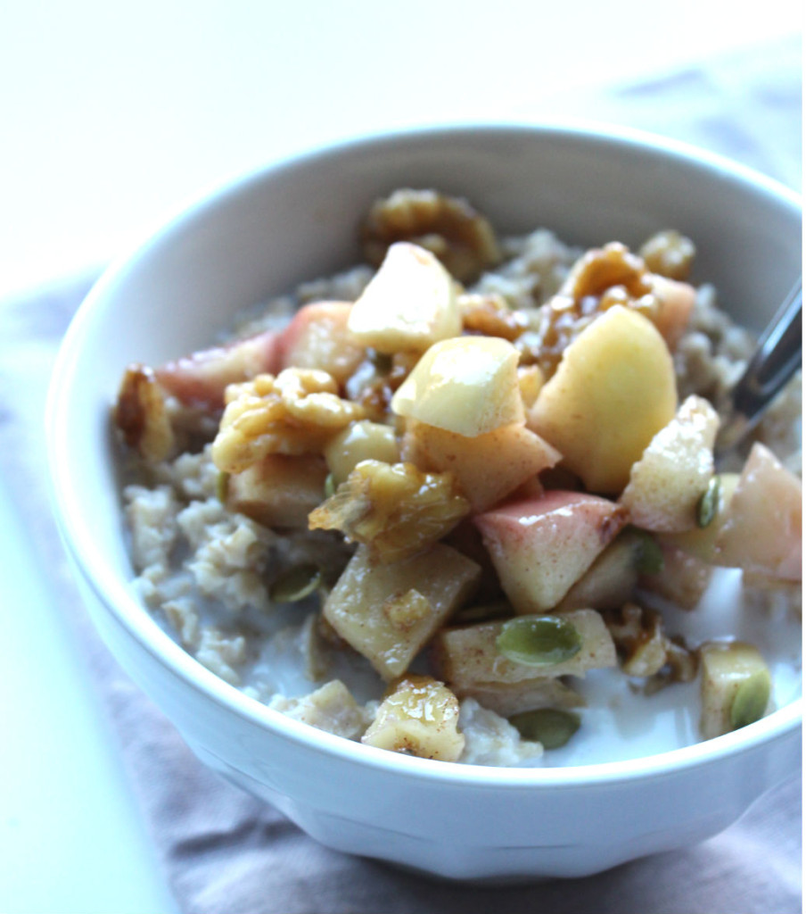 everyday apple crunch oats