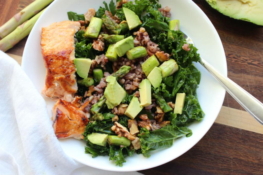 kale and aspagus sald 4