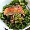 kale salmon asparagus